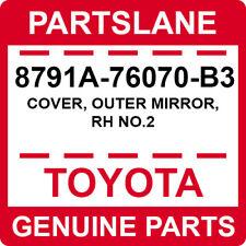 8791A-76070-B3 Toyota OEM Genuine COVER, OUTER MIRROR, RH NO.2