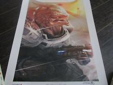"Mass Effect 2 3 GRUNT Lithograph Limited Edition Print #497 SIGNED 18"" X 24"""