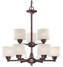 Minka Lavery ML 1739 Lathan Bronze 9 Light 2 Tier Chandelier from 1730 Series