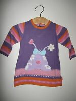 MARKS AND SPENCER M & S BABY GIRL KNIT DRESS  0-3 MONTHS KAWAII PURPLE APPLIQUE