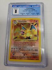 CHARIZARD - Pokemon Base Set Unlimited Holo Card #4/102 - CGC 8.0 NM/MINT - PSA