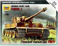 1/100 Tiger I German heavy tank 15mm Flames Of War Zvezda  6256