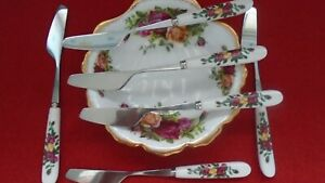 """* Good Match for Old Country Roses 6  Butter Spreaders  """"SALE PRICE 1 WEEK ONLY"""""""