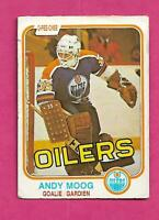 1981-82 OPC # 120 OILERS ANDY MOOG ROOKIE  GOOD CARD (INV# C4847)