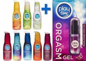 1 x 75ml Bottle of Play/Fun Time Flavoured Lube & 1 x 30ml Fun Time Orgasm Gel