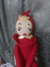 Really Old Vintage Elf Doll Christmas Xmas Rare Needs Tlc Folk Art Primitive Wow