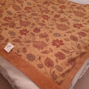 Paoletti Tapestry Style Gold Throw BNWT 57 x 69 inches
