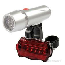 Head / Rear Cycle Bike Lights - 5 LEDs - Ultra-bright Beam - Wide Reflector