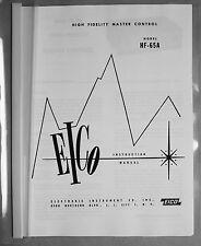 Eico HF-65A tube preamplifier manual reprint