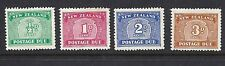 NEW ZEALAND  1939 POSTAGE DUES Sc J22-25 F/VF MH
