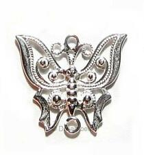 2x Sterling Silver Butterfly Chandelier Pendant Earring Connector se223w