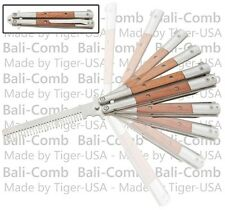 Training Practice Butterfly Knife Wood Handle Balisong Knives Balicomb Combs