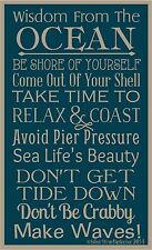 PRIMITIVE STENCIL WISDOM FROM THE OCEAN 12X20 .007 MIL FREE SHIPPING