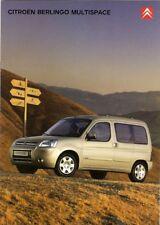 Citroen Berlingo Multispace 2005-06 UK Market Sales Brochure Forte Desire