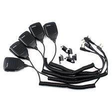 5X 2Pin Handheld Ptt Speaker Mic for Walkie-talkie Retevis H777 Kenwood Baofeng