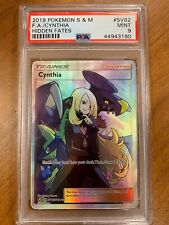 PSA 9 MINT 2019 Pokemon Hidden Fates Cynthia SV82/SV94 Trainer Full Art