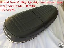 Honda CB750K Four 1972-1976 CB750 K2-1976 New High Quality Seat Cover + Strap