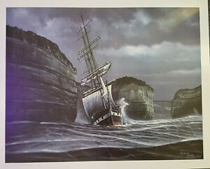 """RICHARD LINTON """"THE WRECK OF THE LOCH ARD"""" SIGNED LIMITED EDITION  80cm X 65cm"""