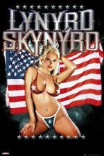 LYNYRD SKYNYRD POSTER American Flag Girl NEW OFFICIAL MERCHANDISE Rare