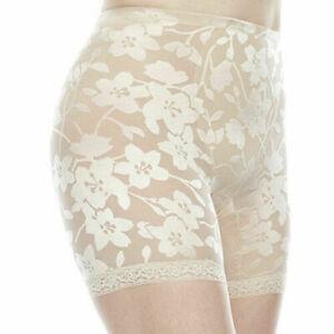 Cortland Shapewear Moderate Control Ivory Panty Thigh Slimmer Plus Size 46/8XL