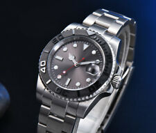 40mm gray sterile dial Luminous ceramic bezel date automatic Movement men watch