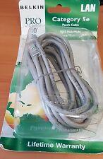 """BELKIN CAT 5 ethernet cable Belkin PRO Series 10"""" 3M  foot A3L791-10"""