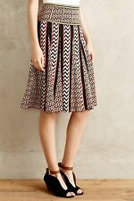 NIP $148 Anthropologie Chevron Striped Skirt by Ranna Gill Size 8 (runs small)