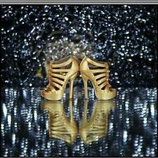 Barbie Basics Gold Strap Stiletto Heels..Look 01-Col 003 For The Adult Collector