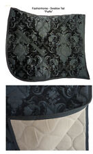 BLACK on BLACK SWALLOWTAIL   BAROQUE DRESSAGE SADDLE PAD - FRIESIAN andalusian