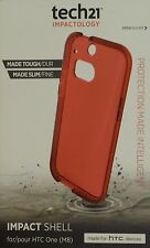 Tech21 Impact Shell HTC One M8 Strong Protective Case Red Skin D30 + free screen