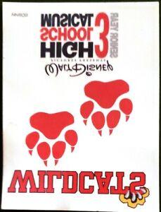 "Promo High School Musical 3 Wildcats 3"" Temporary Tattoo Sticker"