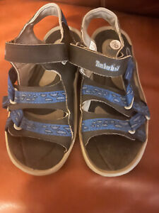 Timberland Adventure Sandals Size 5 In Blue & Black