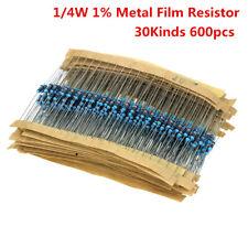 AU STOCK! - Assorted Resistor Pack Kit 600pcs Set 30 Kinds 1/4W Resistance