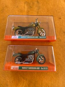 GUILOY HARLEY DAVIDSON AMF 1/24 # 11172 Made In Spain Set Of 2