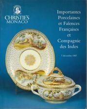 Importantes Porcelaines et Faïences Françaises et Compagnie des Indes Christies