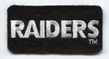 """OAKLAND RAIDERS NFL FOOTBALL 3.5"""" RECTANGLE TEXT PATCH"""