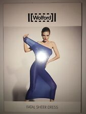 Wolford Fatal Sheer Dress  Croße XS Farbe regatta  transpartent 50740/5625