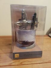 More details for the plane enthusiast gift set with paperweight, pen pot and pen