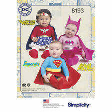 Simplicity Sewing Patt 8193 SZ XXS-L Babies' Super Hero Costumes Bat Girl/Man