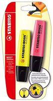 STABILO BOSS Original Highlighter Pens (PK of 2) YELLOW / RED