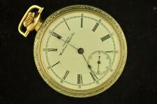 VINTAGE 16 SIZE WALTHAM 645 TWO TONE CASE POCKETWATCH RUNNING!