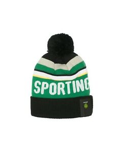 SPORTING FC POM KNIT BEANIE OFFICIALLY LICENSED Fi COLLECTION FREE SHIPPING