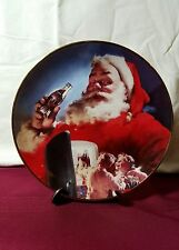 Stocking Up For Christmas Coca Cola Christmas Franklin Mint Plate 1994 Hc7986
