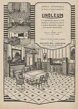 W0051 Linoleum - Il pavimento igienico e impermeabile - Pubblicità 1927 - Advert