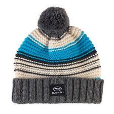 Genuine Subaru Winter Blues Knit Hat Beanie Impreza STI WRX Forester Ski Snow