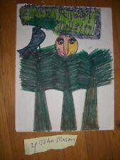 John Mason  FOLK ART PAINTING  OUTSIDER  Green Man #4