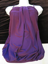 City Triangles Spaghetti Straps Sexy Purple Tank Top Shirt Women Jr S Small