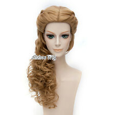 Curly Brown For Cinderella Anime Cosplay Heat Resistant 24 Inches Long Full Wig