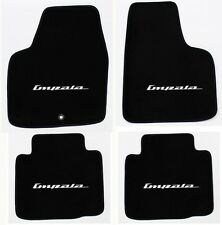 NEW! BLACK Floor Mats 2006-2014 Chevy Impala Embroidered Script Logo Silver All