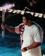 Muhammad Ali Signed Autographed 16X20 Photo Lighting Olympic Torch 1996 OA